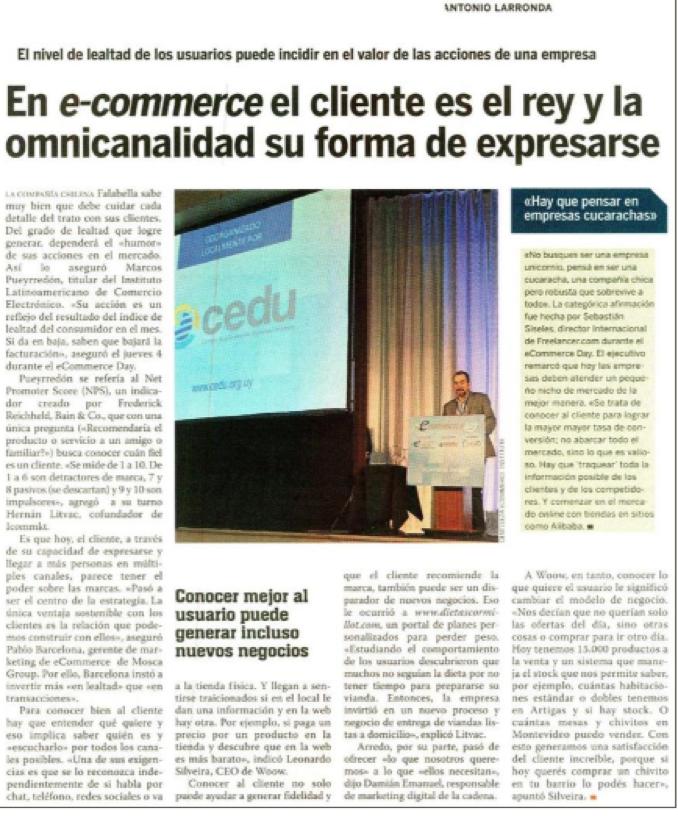 EL Pais Diario Sección Empresario ICOMMKT