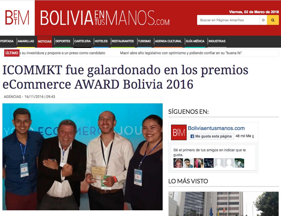 Bolivia en tus manos ICOMMKT